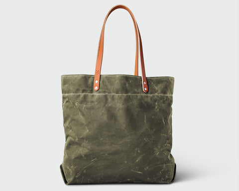 Russell Tote - Olive/Tan