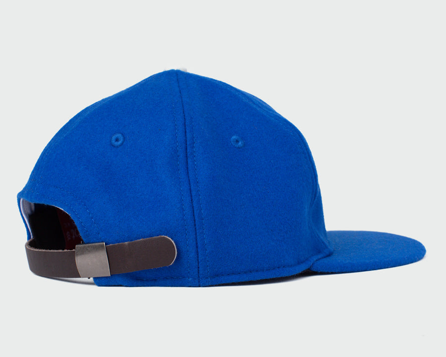 Electric Blue Wool Vintage Flatbill Hat - Monogram KC