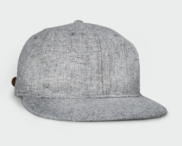 Heather Grey Vintage Flatbill Hat - Solid