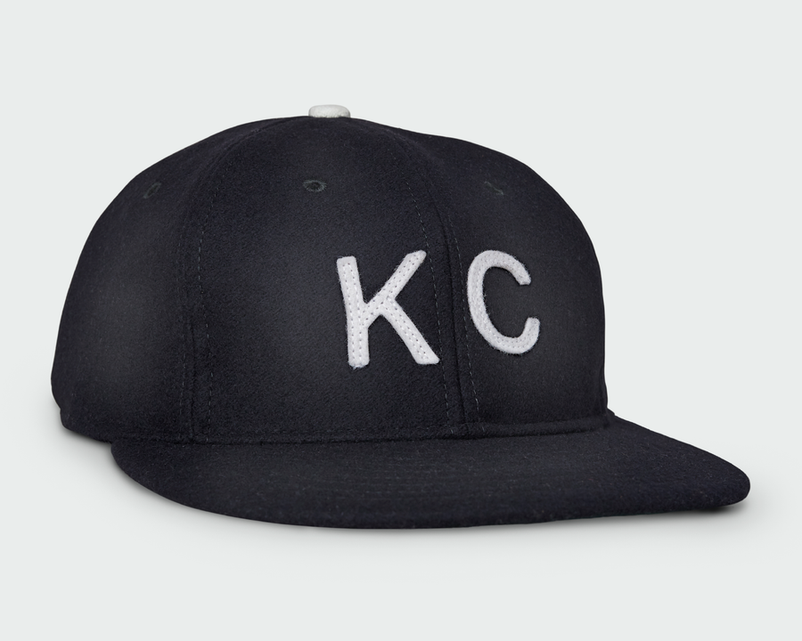 Midnight Vintage Flatbill Hat - White KC