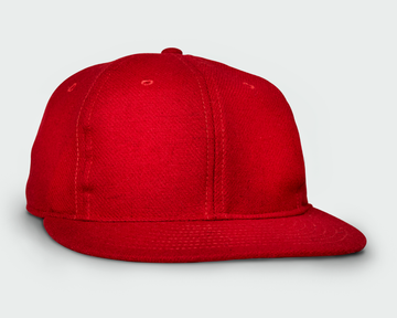 Red Vintage Flatbill Hat - Solid