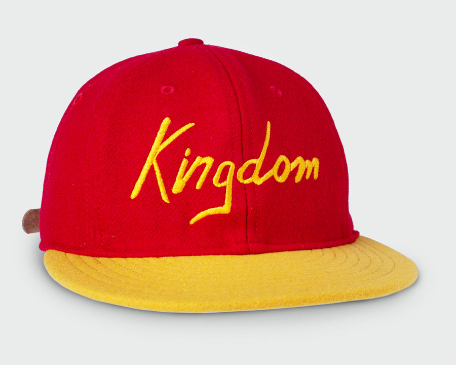 Red/Gold Vintage Flatbill Hat - Kingdom