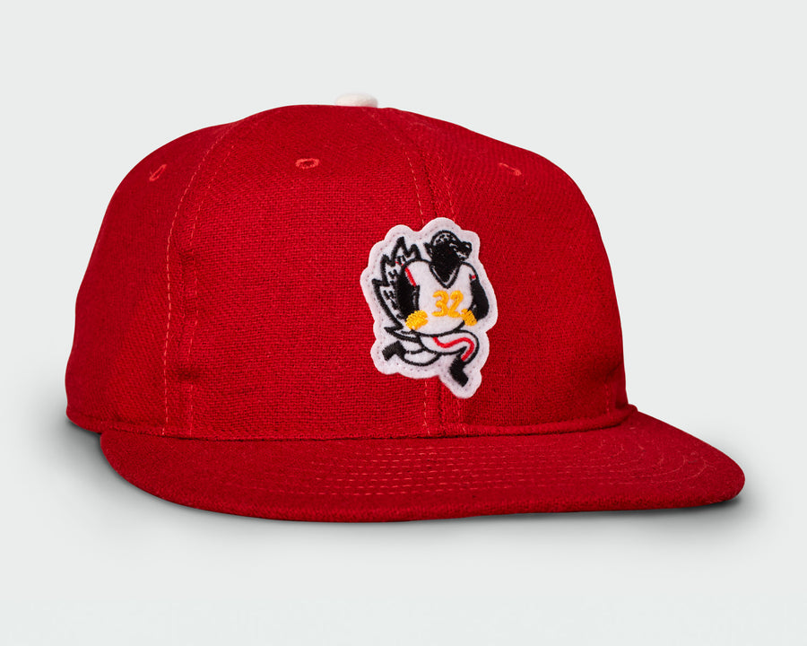 Red Vintage Flatbill Hat - Honey Badger