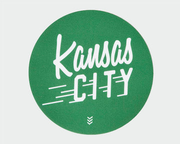 Kansas City Flyer Sticker - Green and White