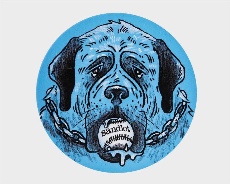 Sandlot Drooling Dog Sticker