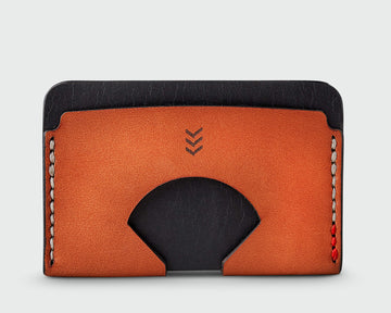 Sandlot Goods Monarch leather wallet in black and tan