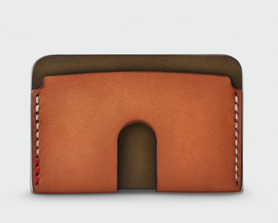 The Monarch - Olive and Tan Wallet