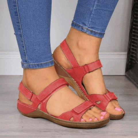 FD - Premium Faux Leather Orthopedic Women Sandals (2020 Collection)
