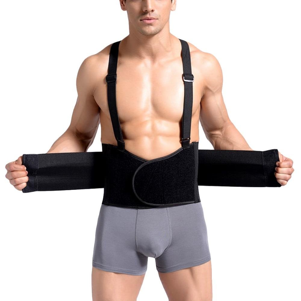 Men Back Support Belt Back Pain Heavy Lift Working Belt Protector Lumbar Support Belt Back Brace Back Posture Corrector Y002