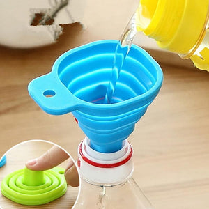 2pcs Silicone Foldable Funnel Hopper Collapsible Style Kitchen Tools Kitchen Accessories Cozinha Cooking Tools Gadgets