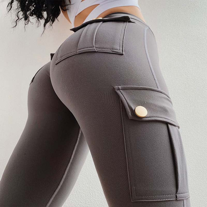Soft Eco-Friendly Bamboo Pockets Stretchy Yoga Pants