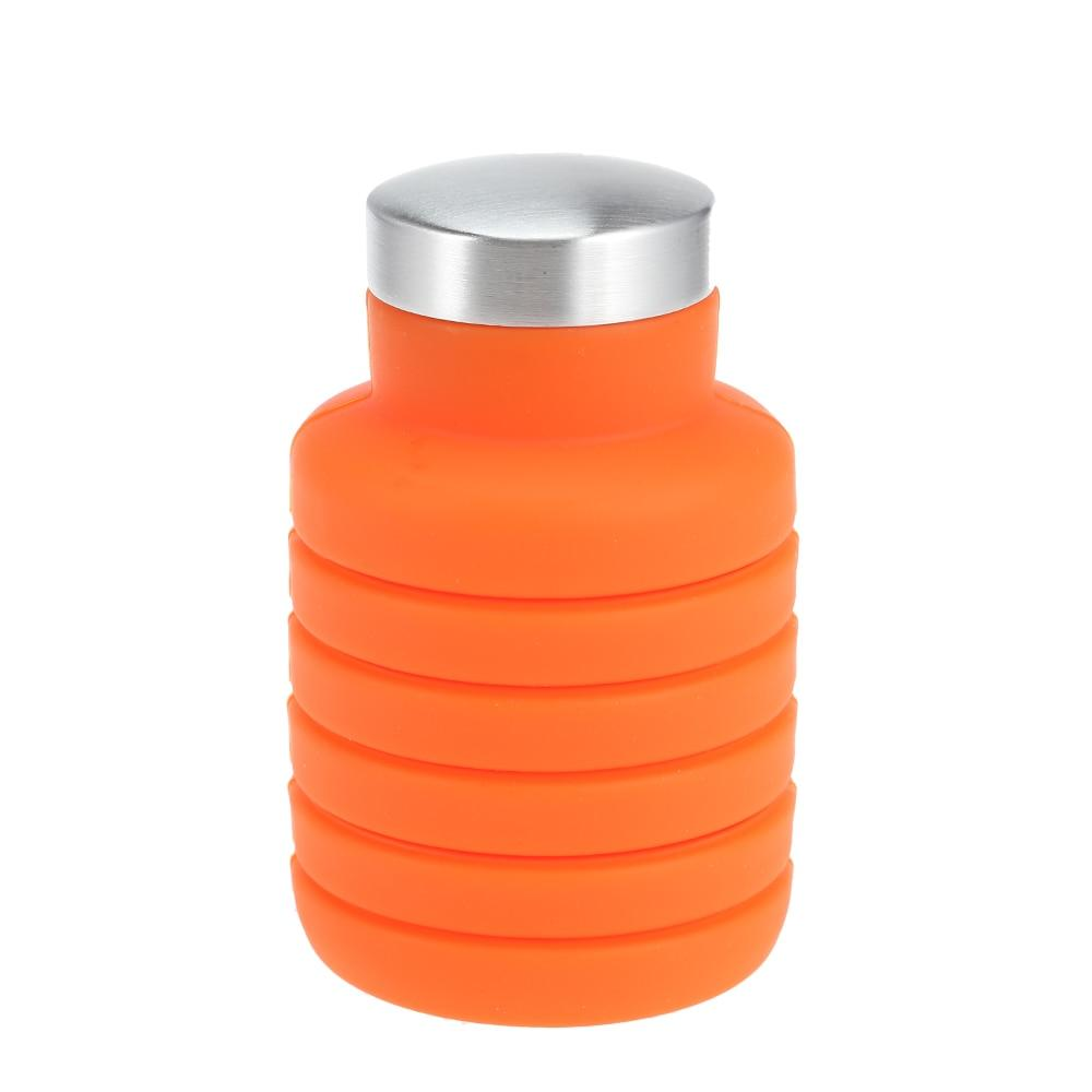 500ML Portable Silicone Water Bottle Retractable Folding