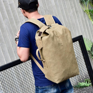 TRAPAK™ Large Capacity Canvas Travel Backpack with Multi-Functional Design