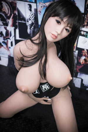 cecilia 140cm black hair japanese big boobs athletic best tpe yl asian small sex doll(12)
