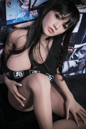 cecilia 140cm black hair japanese big boobs athletic best tpe yl asian small sex doll(13)