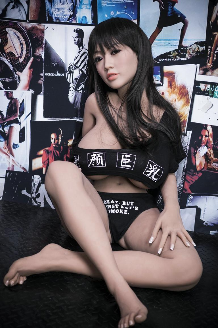 cecilia 140cm black hair japanese big boobs athletic best tpe yl asian small sex doll(2)