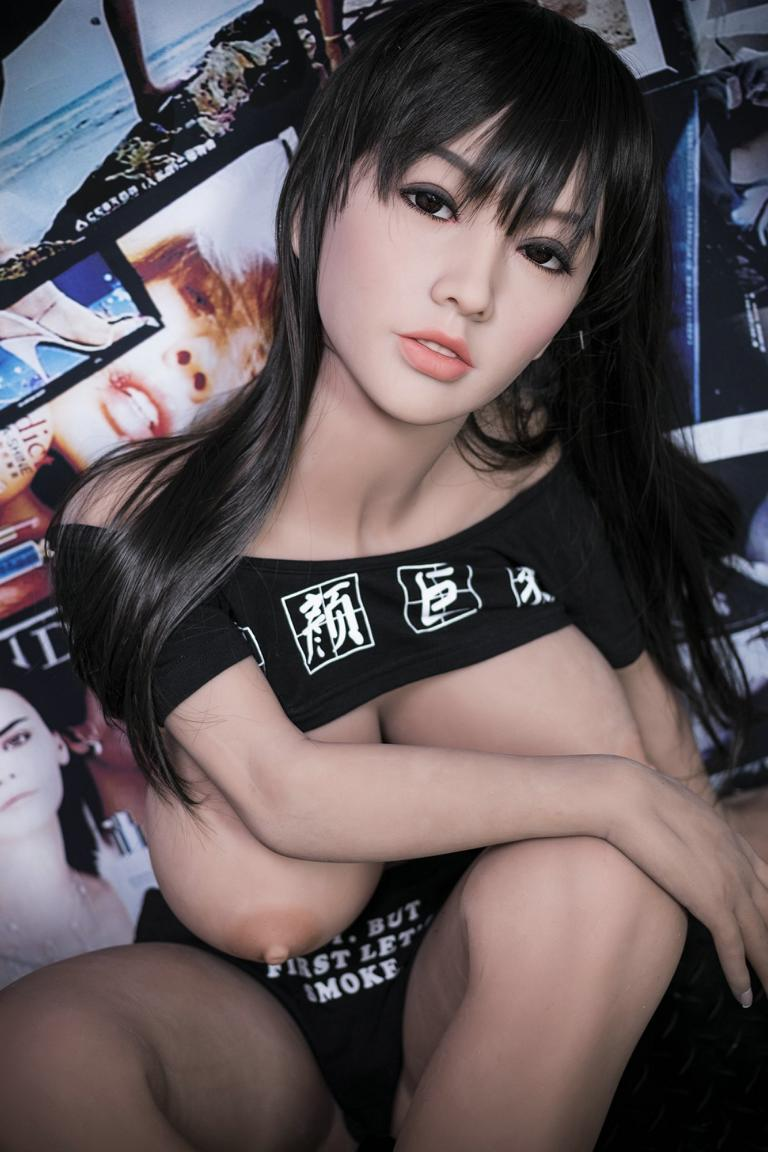 cecilia 140cm black hair japanese big boobs athletic best tpe yl asian small sex doll(4)