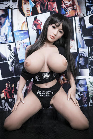 cecilia 140cm black hair japanese big boobs athletic best tpe yl asian small sex doll(9)