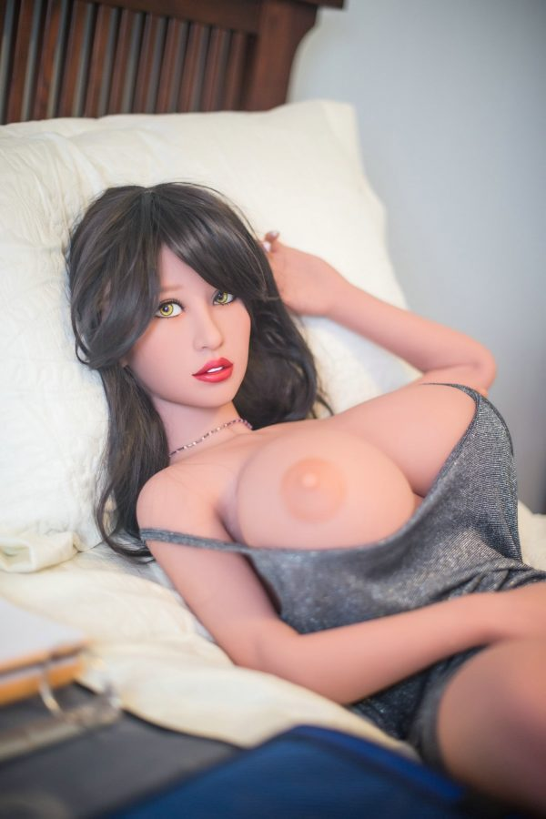 raquel 140cm brown hair curvy big boobs tpe yl small sex doll(11)