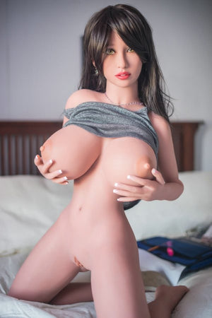 raquel 140cm brown hair curvy big boobs tpe yl small sex doll(3)