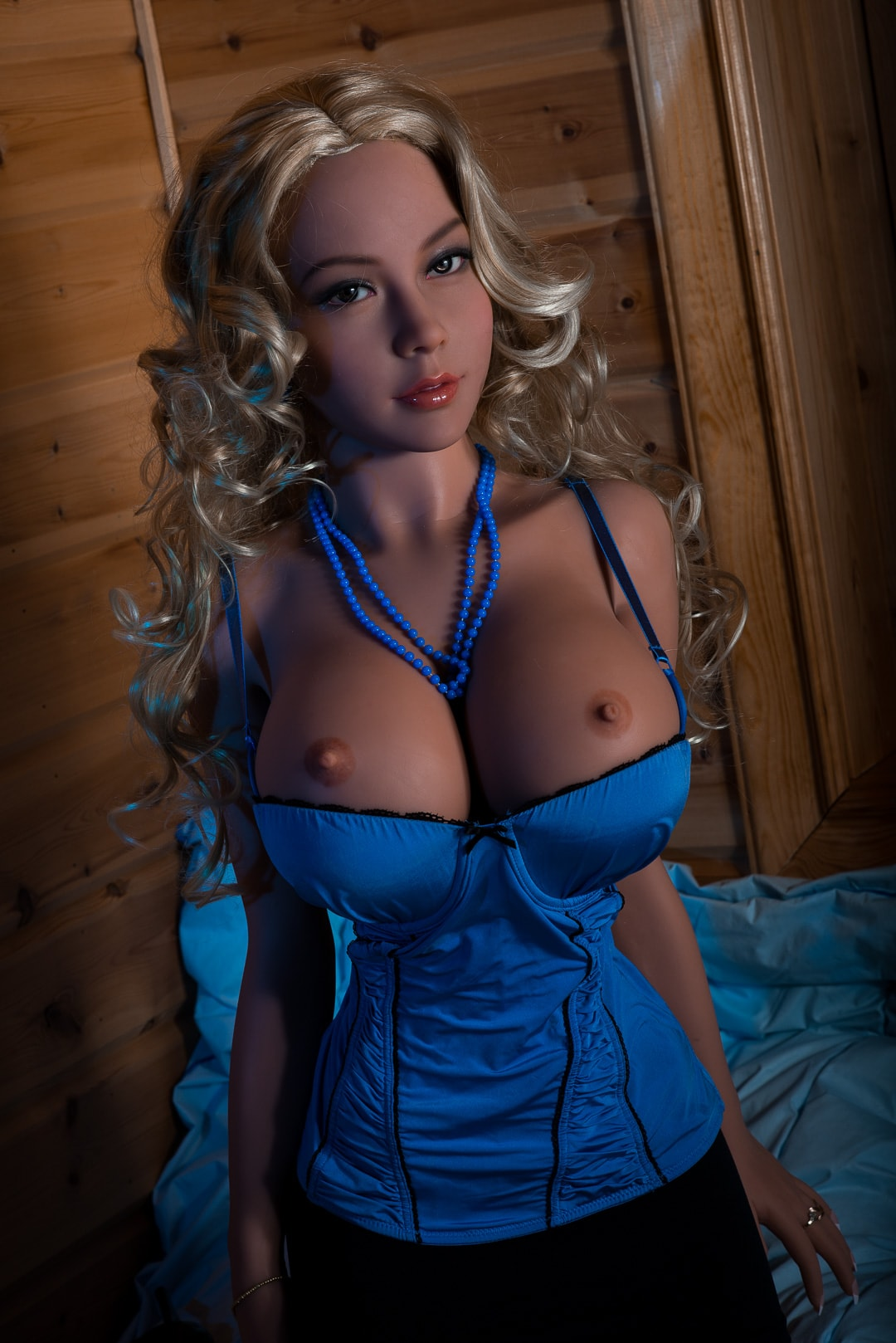 michaela 155cm blonde big boobs athletic tan skin tpe wm sex doll(2)