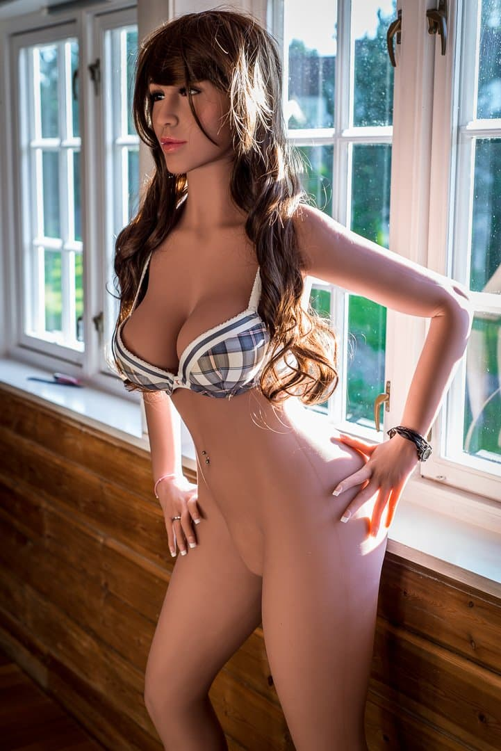 molly 160cm brown hair medium tits athletic tan skin tpe wm sex doll(7)