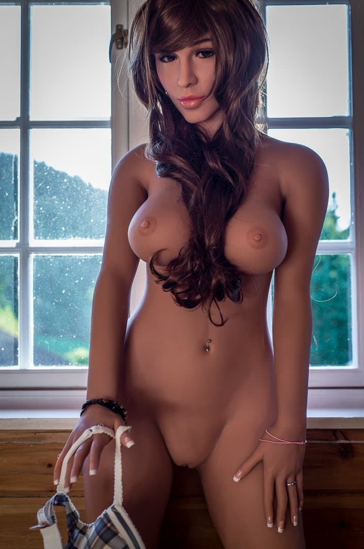 molly 160cm brown hair medium tits athletic tan skin tpe wm sex doll(9)