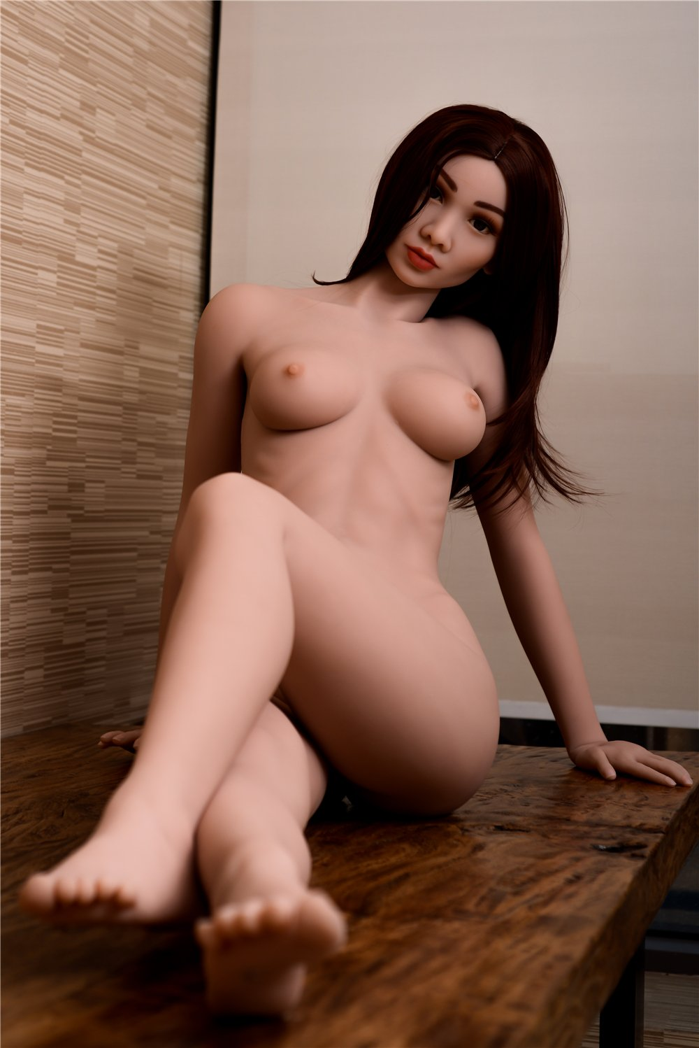sharrie 168cm brown hair medium tits skinny red hair flat chested tpe asian sex doll(5)