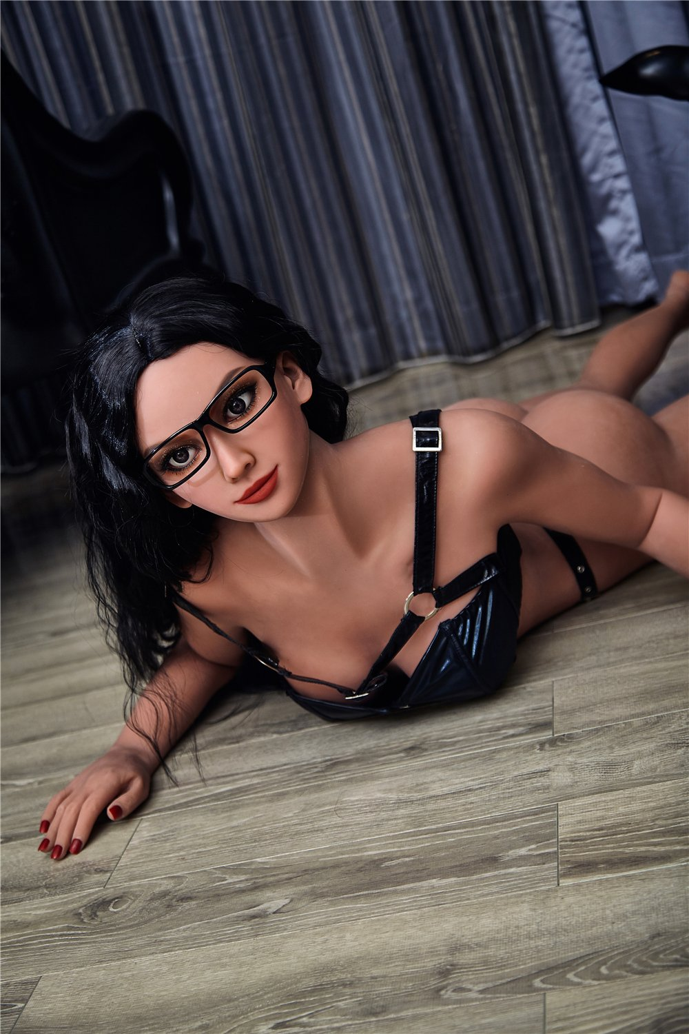kathi 168cm black hair medium tits skinny flat chested tan skin tpe sex doll(11)
