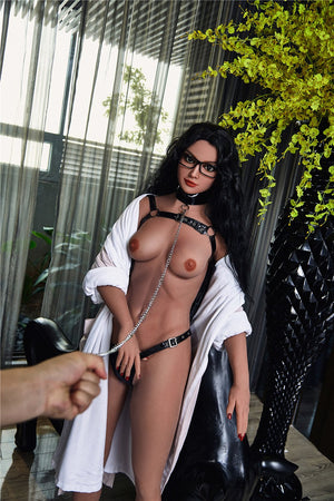 kathi 168cm black hair medium tits skinny flat chested tan skin tpe sex doll(7)