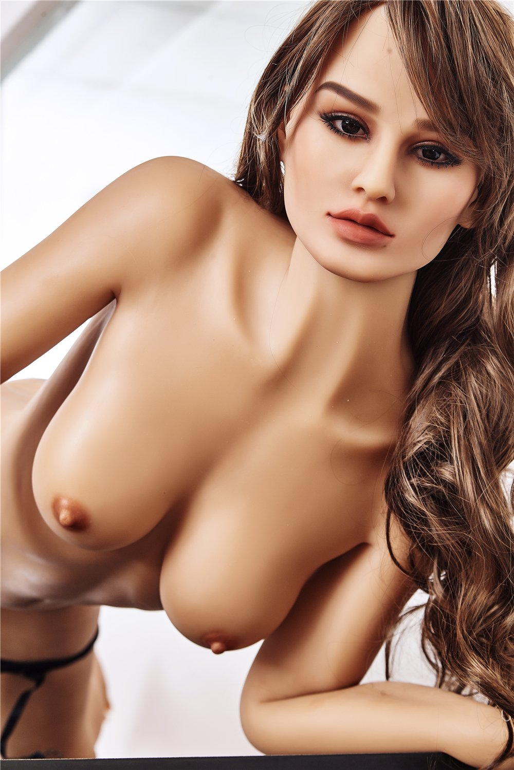 alli 168cm brown hair medium tits skinny flat chested tan skin tpe sex doll(7)