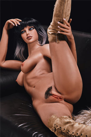 alanna 168cm black hair brown medium tits athletic flat chested tpe sex doll(10)