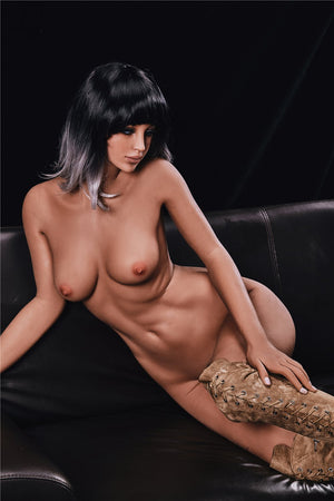 alanna 168cm black hair brown medium tits athletic flat chested tpe sex doll(5)