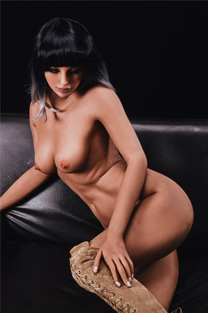 alanna 168cm black hair brown medium tits athletic flat chested tpe sex doll(6)