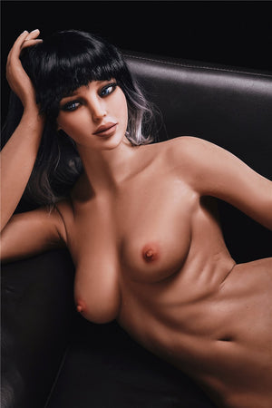 alanna 168cm black hair brown medium tits athletic flat chested tpe sex doll(7)
