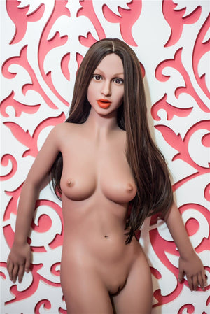 dhar 155cm brown hair medium tits skinny flat chested tan skin tpe sex doll(11)