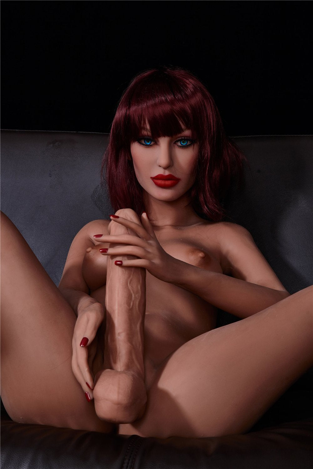 stella 155cm red hair tpe transsexual shemale gay boy sex doll(11)
