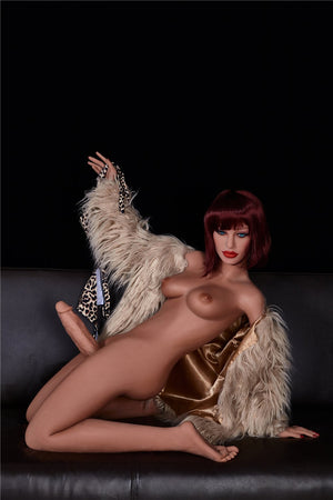stella 155cm red hair tpe transsexual shemale gay boy sex doll(2)