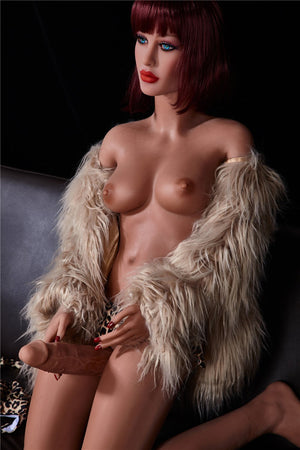 stella 155cm red hair tpe transsexual shemale gay boy sex doll(3)