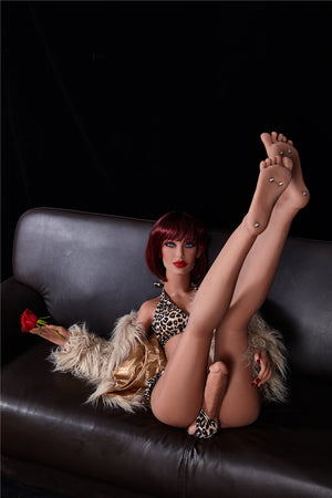 stella 155cm red hair tpe transsexual shemale gay boy sex doll(5)