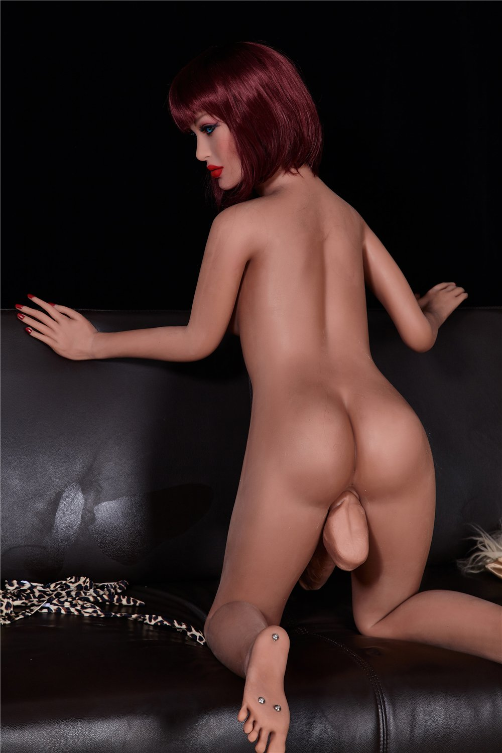 stella 155cm red hair tpe transsexual shemale gay boy sex doll(6)