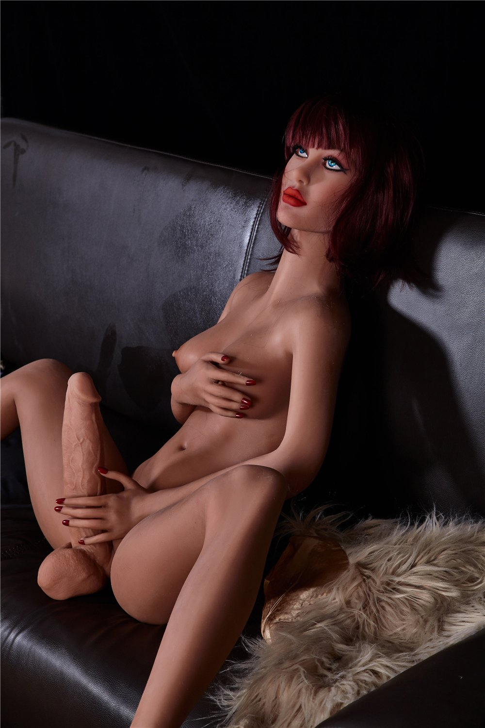 stella 155cm red hair tpe transsexual shemale gay boy sex doll(8)