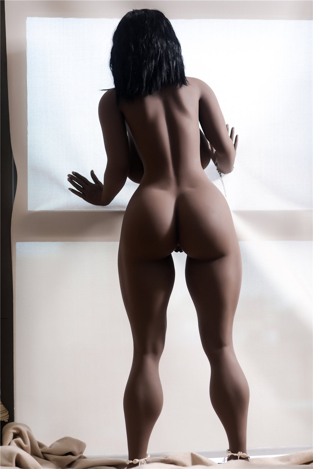 adele 158cm dark skin tone black hair curvy big boobs best tpe sex doll(6)