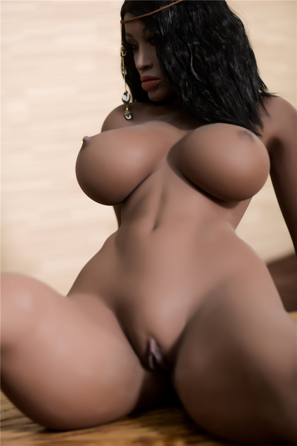 adele 158cm dark skin tone black hair curvy big boobs best tpe sex doll(8)