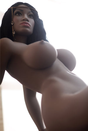 adele 158cm dark skin tone black hair curvy big boobs best tpe sex doll(9)
