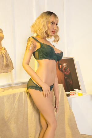 annasophia 161cm blonde medium tits skinny silicone sex doll(4)