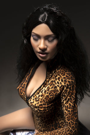 kaaren 161cm black hair brown medium tits athletic silicone sex doll
