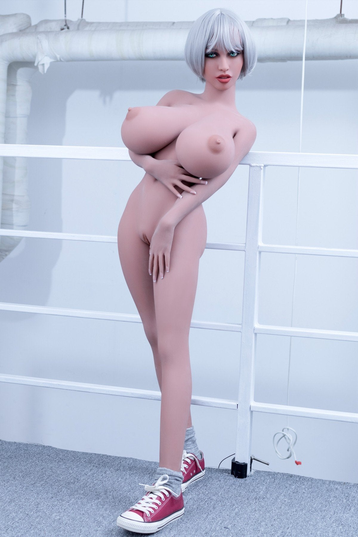 lavelle 148cm blonde giant massive tits athletic tpe wm bbw small sex doll(9)