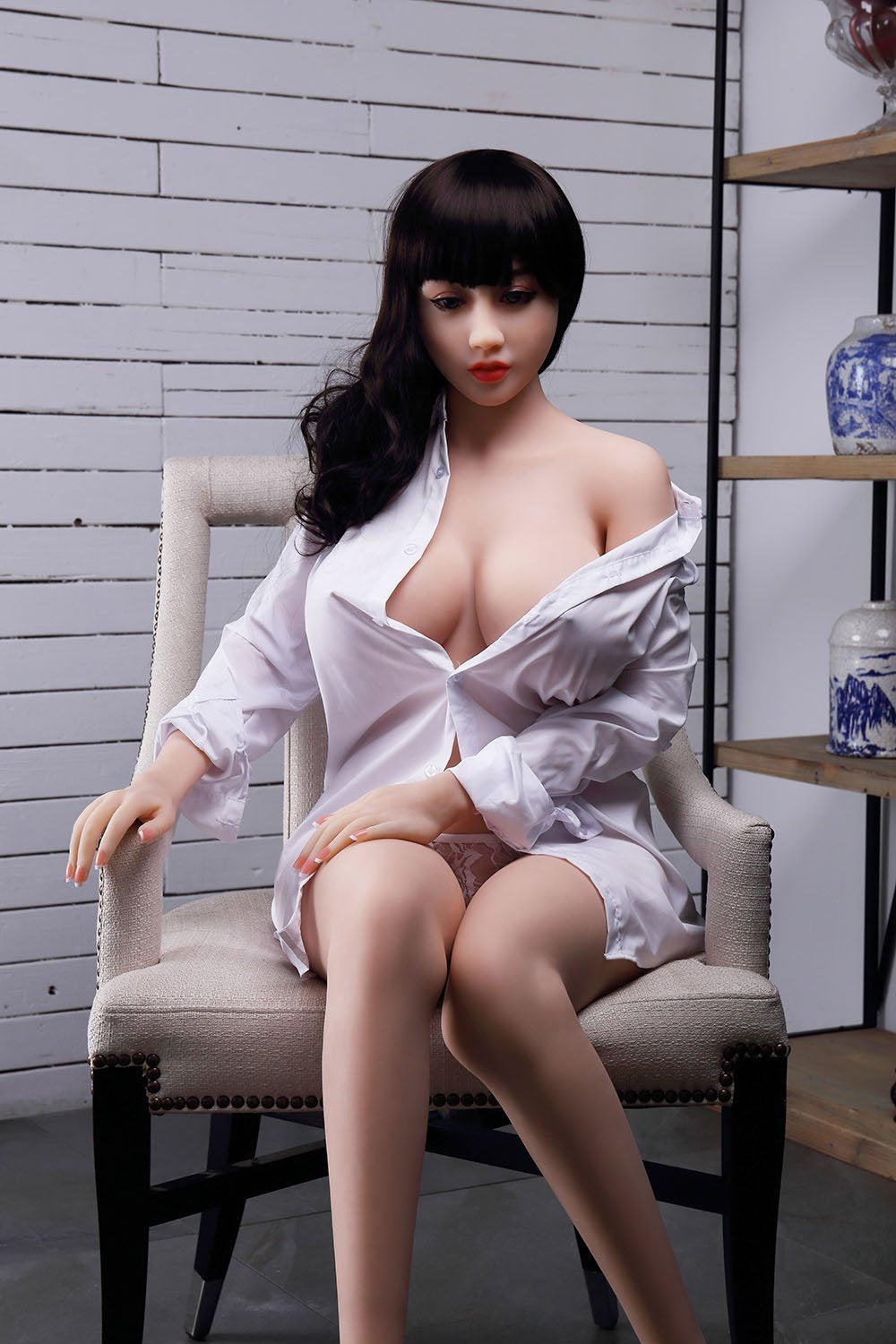 chloe 150cm brown hair curvy big boobs tpe wm asian small sex doll(10)