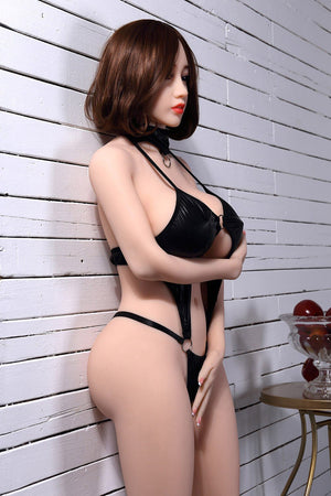 chloe 150cm brown hair curvy big boobs tpe wm asian small sex doll(2)